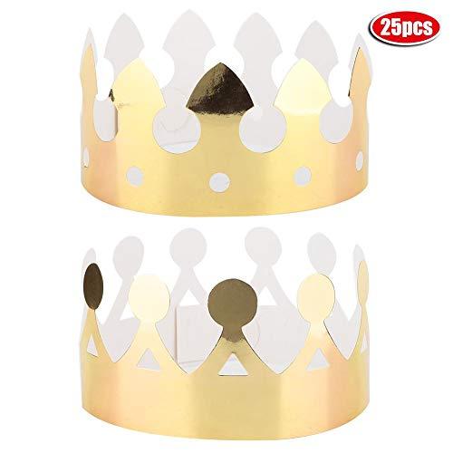 Crown Handgemaakte pet - 25 stuks party hoeden Crown Happy Birthday party bruiloft hoeden DIY schattige handgemaakte pet B.