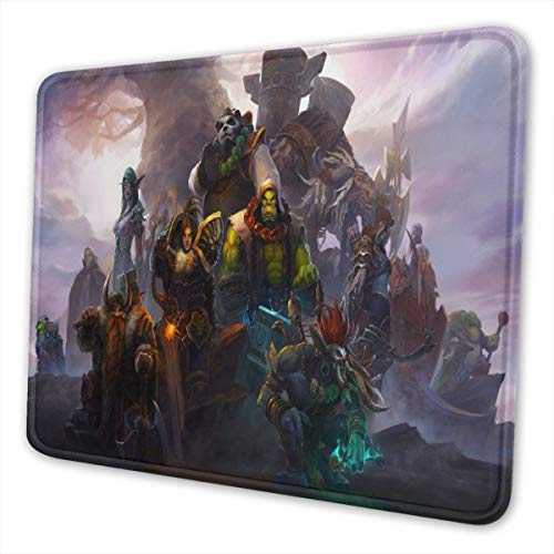 World Warcraft Mouse Pad with Stitched Edge Premium-Textured Mouse Mat Rectangle Non-Slip Rubber Base Oversized Gaming Mousepad,for Laptop & PC 8.3 x 10.3 in