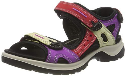 ECCO Women's Yucatan Sport Sandal, Multicolor Hibiscus, 8-8.5