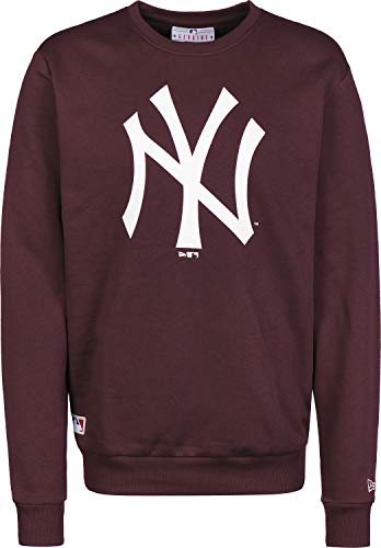 New Era Team Logo Crew Neyyan Sweatshirt für Herren L Dunkelviolett