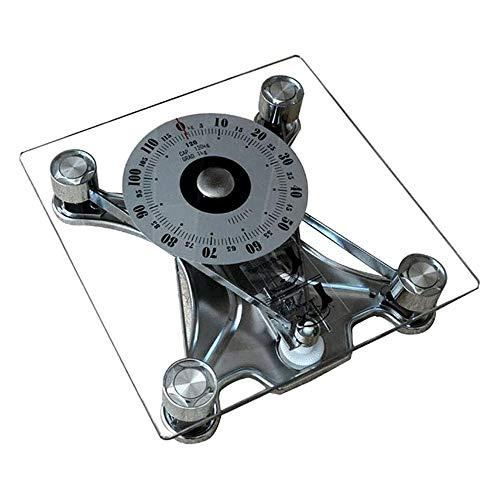 HEMFV Báscula electrónica de alta precisión Báscula de baño mecánica de pesaje electrónico báscula de baño transparente Escalas adulto sano bajar de peso regalos de pesada, escala de baño del hotel de