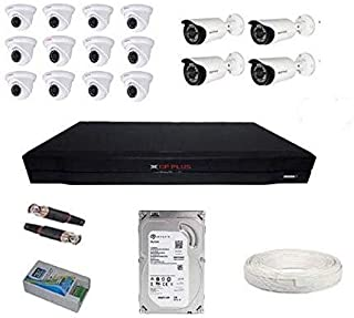 CP Plus Full HD 2.4 MP with 16 inch DVR+ 4 Bullet + 12 Dome Cameras+2 TB Hard Disc+ Wire Roll +Supply and All Required Con...