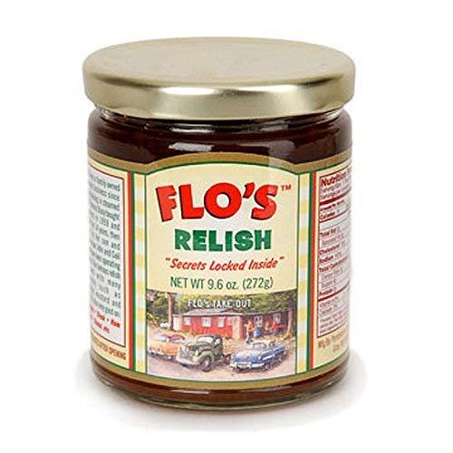 Flo's Hot Dog Relish - Original Homemade Secret Recipe - Five 9.6 Ounce Jars