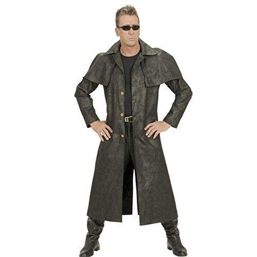 NET TOYS Abrigo Vaquero Negro Disfraz del Oeste XL 54 Traje Cowboy Sheriff Atuendo Salvaje Oeste Capa Cowboy Hombre Disfraz lejano Oeste Rodeo