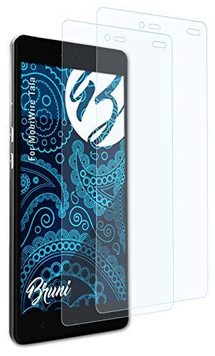 Bruni Schutzfolie kompatibel mit MobiWire Tala Folie, glasklare Bildschirmschutzfolie (2X)