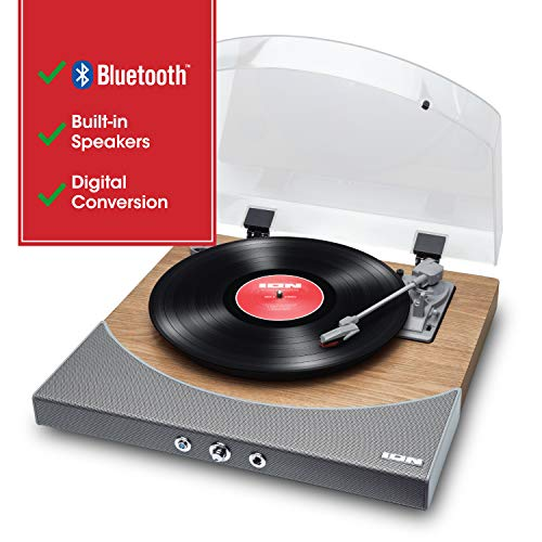 ION Audio Premier LP - Tocadiscos de vinilo Bluetooth, de 3