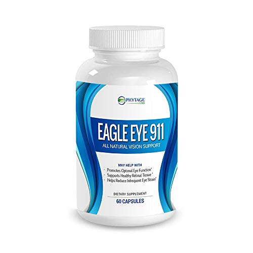 Eagle Eye 911 - Phytage Labs (Official – 60 Capsules) All Natural Vision Support Supplement with Antioxidant Lutein | Aids Optimal Eye Function & Supports Healthy Retinal Tissue | Reduce Eye Strain