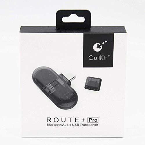 Adattatore Bluetooth, Trasmettitore e Ricevitore Bluetooth per Nintendo Switch, Route+ Pro USB C Adattatore Audio Dongle Chiavetta con Microfono per PC, Cuffie, Cassa, Altoparlante Senza Fili