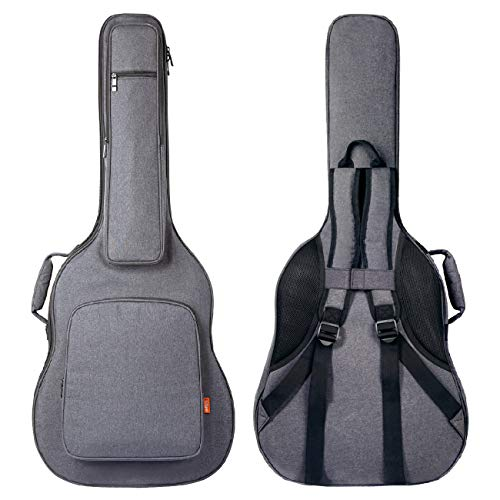 CAHAYA Guitar Bag Reinforced 0.8 Inch Thick Sponge Overly Padded Extra Protection Guitar Case with 5 Pockets,Neck Cradle,Back Hanger Loop for 40 41 42 Inches Acoustic Classical Guitar