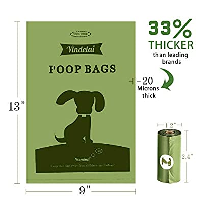 Yingdelai Dog Poo Bags - 26 Rolls 390 Bags with 1 Dispenser-Biodegradable,Eco Friendly Poop Bags Dog 4