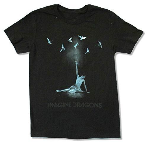 Imagine Dragons Ballerina Men Black T-Shirt New Band Merch