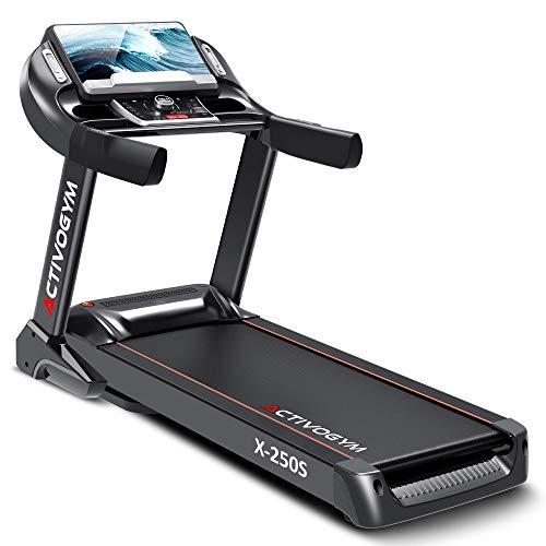 ACTIVOGYM X250S (2021) - Cinta de Correr Profesional. Pantalla Táctil 15,6',con WiFi, USB, Inclinación Automática; Sistema de Amortiguación; Sistema Autolubricación.