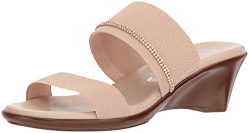 ITALIAN SHOEMAKERS Women's Miami Slide Sandal, Nude, 7.5 Medium US