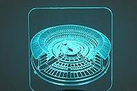 3Dナイトライト、ラウンド会場、カラフルなLedライト、アクリルビジュアル3次元ライト、Usbタッチブラックベーステーブルランプ、クリスマスギフト
