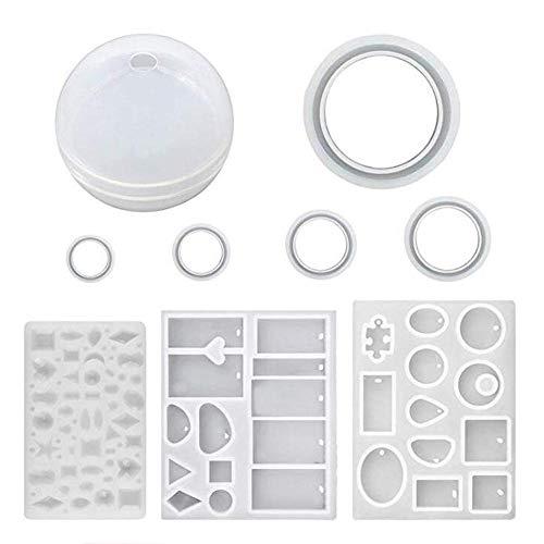 Funihut sieradenset – vormen van siliconen voor het vormen van hangers, oorbellen, ornamenten – creëer je eigen sieraden, kristalhelder