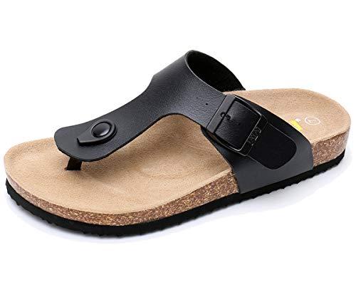 WTW Mens Adults Gizeh Thong Sandal, Black,10 B(M) US