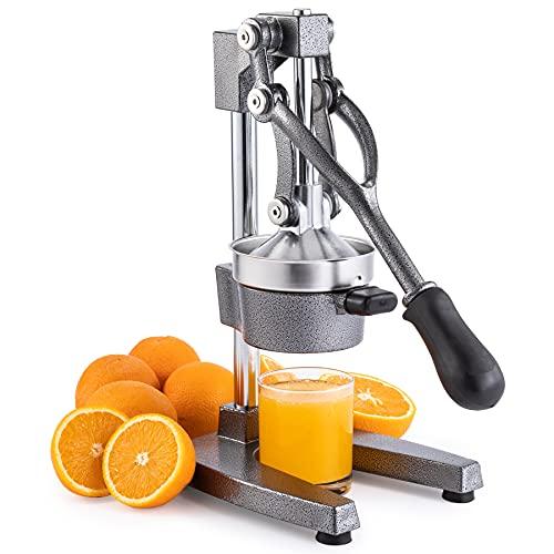 CO-Z Exprimidor Manual de Granadas y Cítricos Exprimidor de Zumo Manual de Acero Inoxidable Exprimidor a Mano Profesional para Naranja, Limon y Frutas (Gris)