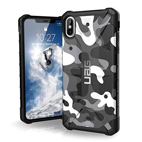 Urban Armor Gear Pathfinder Funda para Apple iPhone Xs Max Carcasa con estándar Militar Estadounidense case (Compatible con inducción, Resistente a los golpes) - blanco (camo)