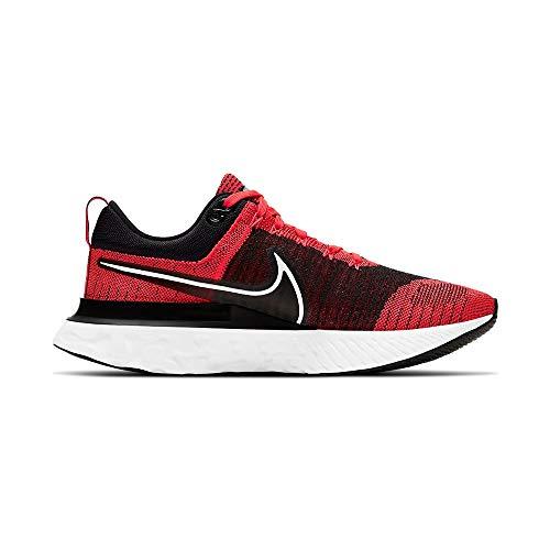 Nike React Infinity Run FK 2, Zapatillas para Correr Hombre, BRT Crimson White Black Dk Smoke Grey, 45 EU
