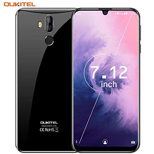OUKITEL K9 Unlocked Cell Phones, 7.12' FHD+ Water Drop Screen 4GB RAM + 64GB ROM 1600MP+8MP Dual Camera 6000mAh Battery Unlocked Smartphones,4G Android 9.0 Dual SIM Smartphone Support OTG-Black