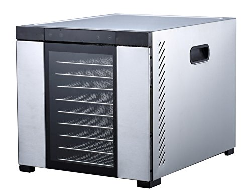 "Samson""Silent"" 10 Tray Stainless Steel Dehydrator - Digital Controls - Glass Door"