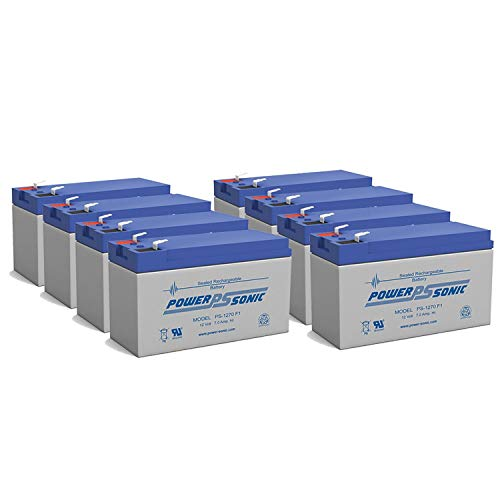 Power Sonic 12V 7Ah Battery Replacement for ION Audio Raptor - 8 Pack