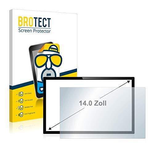 BROTECT Entspiegelungs-Schutzfolie für Touch-Panel PCs mit (14 Zoll) [305 mm x 185 mm, 15:9] Displayschutz-Folie Matt, Anti-Reflex, Anti-Fingerprint