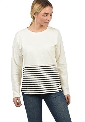 DESIRES Piper Damen Sweatshirt Pullover Sweater Mit Rundhalsausschnitt Und Streifen, Größe:S, Farbe:Black (9000)