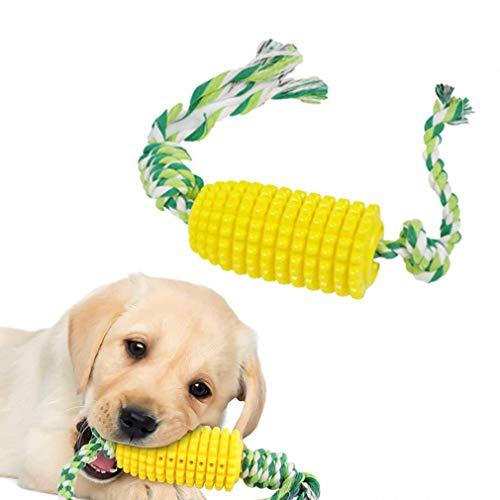 Feixiangge Hundezahnbürste, Hundezahnbürste, künstlicher Maiskolben, Backenzähnenspielzeug, Haustier-Zähnenbissspielzeug, Stabsicher, geschmacksneutral, bissfest, Hundespielzeug, 1 Stück
