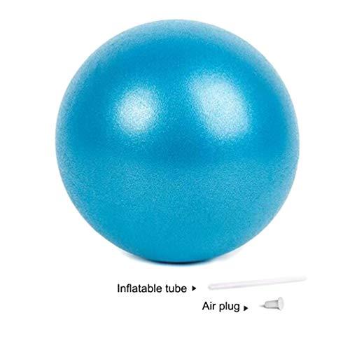nononfish Mini Exercise Barre Ball for Yoga,Pilates,Stability Blance Exercise Training Gym Anti Burst and Slip Resistant BallWith Inflatable Straw (Blue)