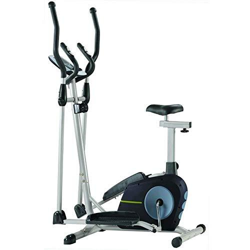 Busirsiz. Allenamento Cross Trainer Macchina ellittica Cardio Fitness Training Machine Control Ellittica con Monitor LCD Magnetica 105x61x158cm Allenamento Cardio
