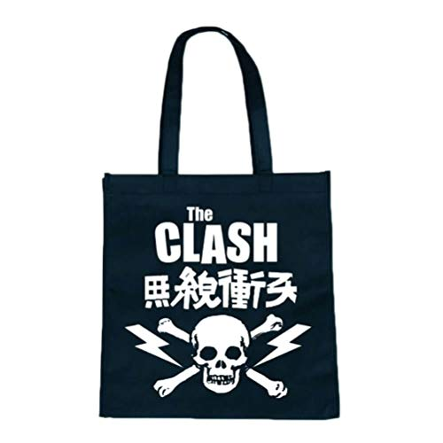 Clash-Skull Logo on Black Canvas Bag [Import]