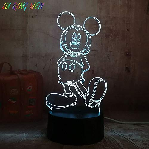 Cartoon Cartoon Maus Maus Figur Nachtlicht Junge Kind Schlafzimmer Dekoration Licht Geburtstag Nachtlicht Bett
