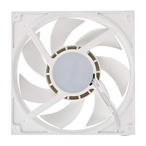 Bewinner laptopventilator 500-2000 tpm industriële computerventilator computerkoeler koeler, groot luchtvolume en snelle warmteafvoer beschermen CPU tegen oververhitting (wit)
