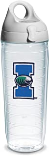 Tervis Texas A and M Corpus Christi Emblem Individual Water Bottle with Gray Lid, 24 oz, Clear -