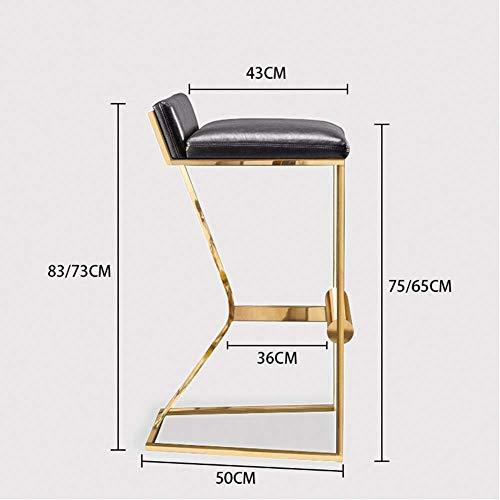 WJYY Art und Weise kreativer Kleinmöbel Anti-Rutsch-Hocker Hocker Metall Barhocker Leder Barhocker Schöne Hoch Hocker Multifunktions-Haushalts Kreative,665cm