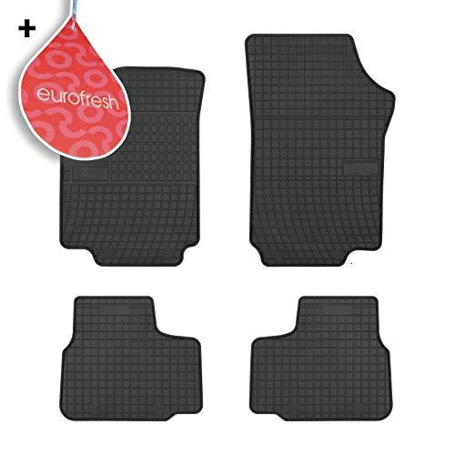 Frogum Las Alfombrillas para Coches de Goma de 4 Piezas encajan Perfectamente y Compatible con Seat MII Skoda Citigo VW Up! a Partir de 2011