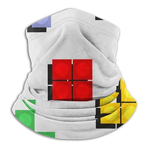 Lzz-Shop Kleurrijk Tetris-spel van Pixel Bricks Neck Warmer - Hoofdband Scarf Head Wrap, vissen met nek Gaiter Tube, Face Sport Scarf