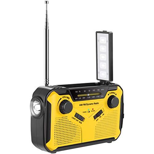 Solar Radio, Wetter Radio, AM/FM/Wide FM-kompatibel, Taschenlampe, (Solar- / Handkurbelladung/USB-Ladung/Batterie verwendet), 2.500 mAh Hohe Klangqualität, für Erdbeben, Taifune, Stromausfälle