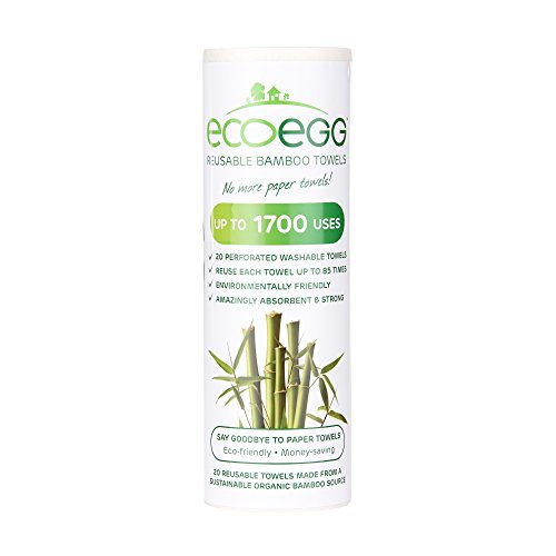 Ecoegg Re-Usable Bamboo Towels, White by Ecoegg