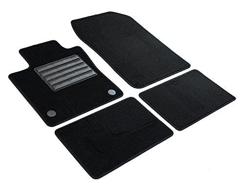 Nrm KO093 Radzierblende Quad Bicolor, schwarz/silber, 14 Zoll,4er Set