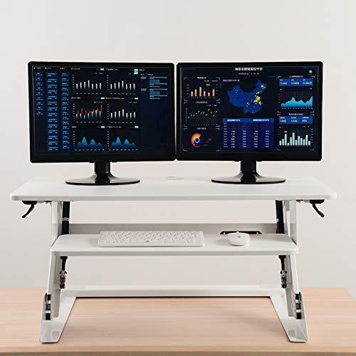 FEI - Bureau debout Convertisseur de bureau sur pied avec hauteur ajustable - Convertisseur sur pied de 35 \