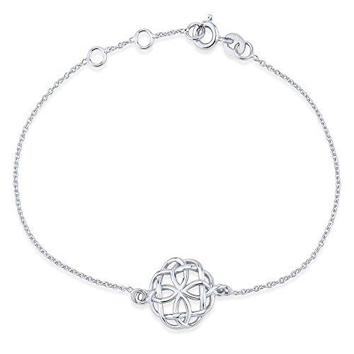 SILVEGO Damen Armband aus 925 Sterling Silber mit Anhänger Keltische Sonne