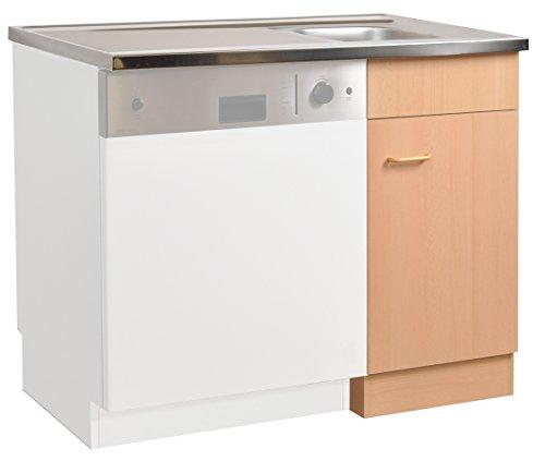 Küche-Spülzentrum/ Mehrzweckschrank 100x60 Start Melamin Buche/Buche