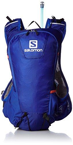 Salomon Herren Rucksack SKIN PRO, Blue Yonder/Vivid Orange F04, 40 x 13 x 17 cm, 10 Liter, L38234000