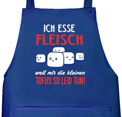 Shirtstreet24, Kleine Tofus, Tablier de cuisine/barbecue avec inscription - bleu - taille unique