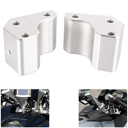 Motorrad Lenkererhöhung Verstellhalterungen Lenkerverlegung aus Aluminium Zubehör für Concours 14 2008-2019 für GTR1400 2008-2019 (Silber)