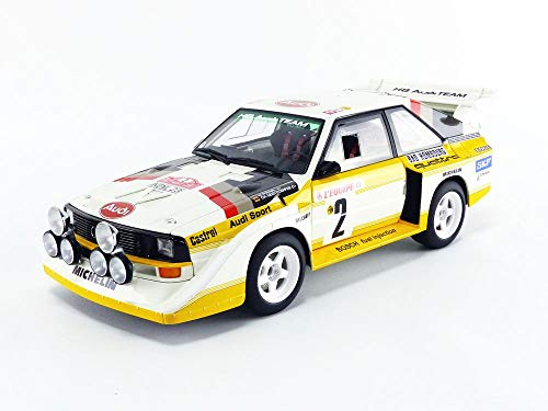 AUTOart 1/18 Model Car of Audi Sport Quattro S1#2 W. Rohrl - C. Geistdorfer Rally Monte Carlo (1986) 88601