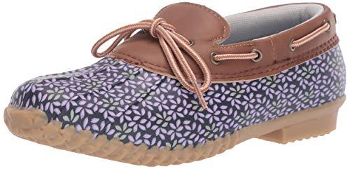 JBU by Jambu Women's Gwen Garden Ready Rain Shoe, Navy/Lilac Floral, 7.5 M US