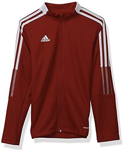 adidas Youth Tiro 21 Track Jacket, Team Power Red, X-Small